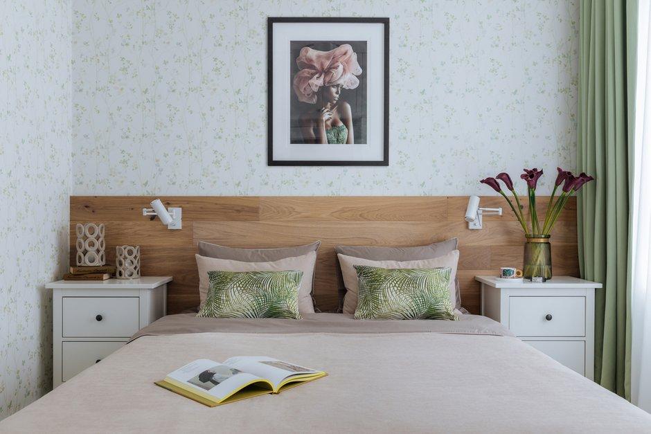 Фотография: Спальня в стиле Современный, Квартира, Проект недели, Москва, Монолитный дом, 2 комнаты, до 40 метров, 40-60 метров, Татьяна Фурсова – фото на INMYROOM