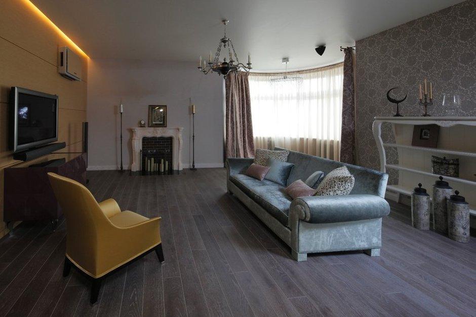 Фотография: Гостиная в стиле Современный, Квартира, Дома и квартиры, Москва, Фьюжн – фото на INMYROOM