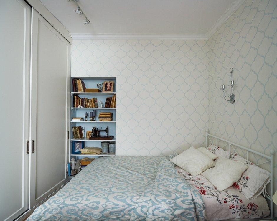 Фотография: Спальня в стиле Прованс и Кантри, Малогабаритная квартира, Квартира, Проект недели, Москва, Сталинка, Bonhomedesign, 2 комнаты, 40-60 метров – фото на INMYROOM