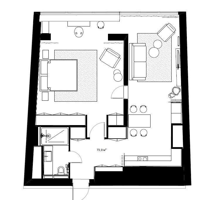 Фотография: Планировки в стиле , Современный, Квартира, Проект недели, Москва, 2 комнаты, 40-60 метров, Анна Морозова – фото на INMYROOM