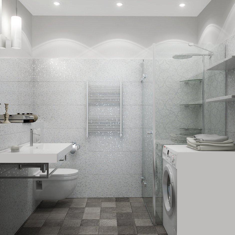 Фотография: Ванная в стиле Хай-тек, Квартира, Цвет в интерьере, Дома и квартиры, Белый, Проект недели – фото на INMYROOM