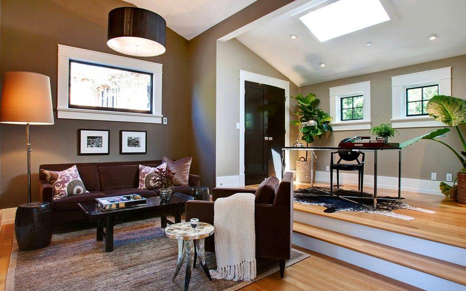 Фотография: Гостиная в стиле Современный, Дом, Терраса, Дома и квартиры, Бассейн, Калифорния – фото на INMYROOM