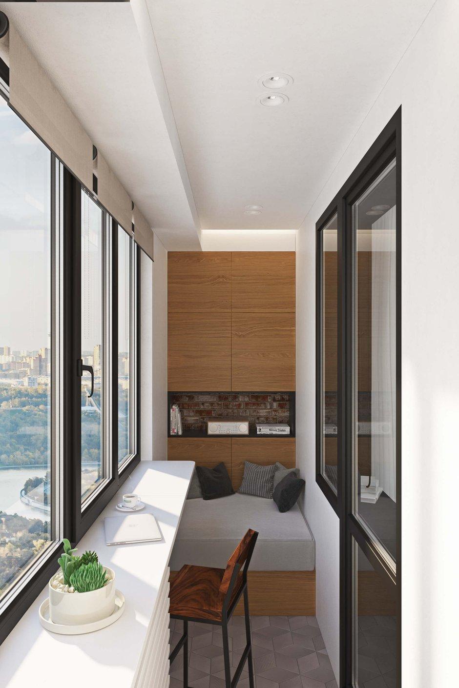 Фотография: Балкон в стиле Современный, Квартира, Проект недели, Москва, Geometrium, ЖК «Водный», 2 комнаты, 60-90 метров – фото на INMYROOM