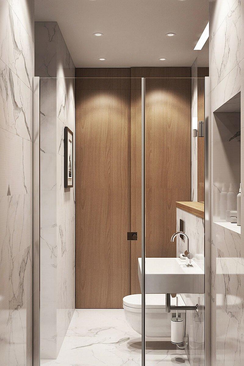 Фотография: Ванная в стиле Современный, Квартира, Проект недели, Geometrium, ЖК «Филиград» – фото на INMYROOM