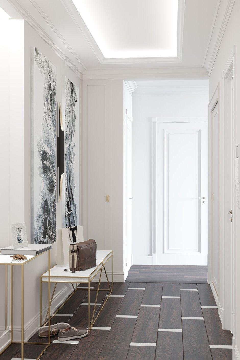 Фотография: Прихожая в стиле Современный, Классический, Квартира, Проект недели, Москва, Монолитный дом, 3 комнаты, Более 90 метров, Тор-Ард – фото на INMYROOM