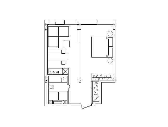 Фотография: Планировки в стиле , Малогабаритная квартира, Квартира, Украина, Дома и квартиры – фото на INMYROOM