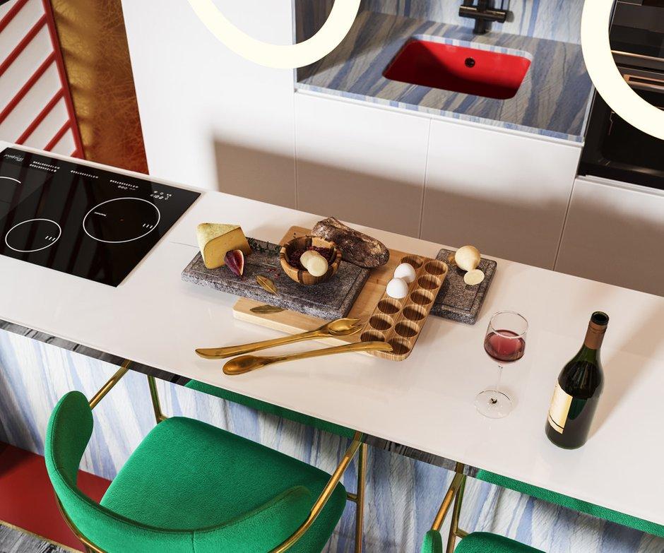 Фотография: Кухня и столовая в стиле Современный, Квартира, Проект недели, 2 комнаты, 60-90 метров, Алена Горская, Nolte, Nolte Küchen, Nolte Kuchen – фото на INMYROOM