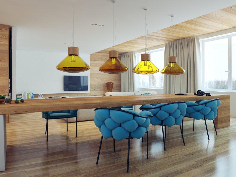 Фотография: Кухня и столовая в стиле Современный, Хай-тек, Квартира, Дома и квартиры – фото на INMYROOM