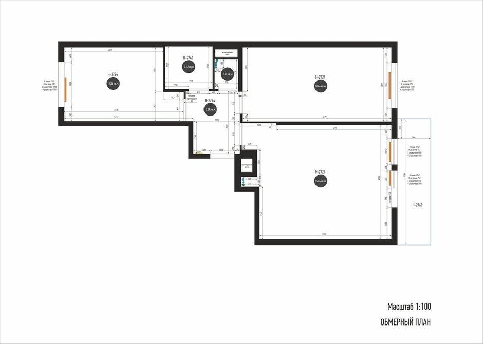 Фотография: Планировки в стиле , Современный, Квартира, Проект недели, Санкт-Петербург, 3 комнаты, 60-90 метров, Yucubedesign, Юлия Бабинцева – фото на INMYROOM