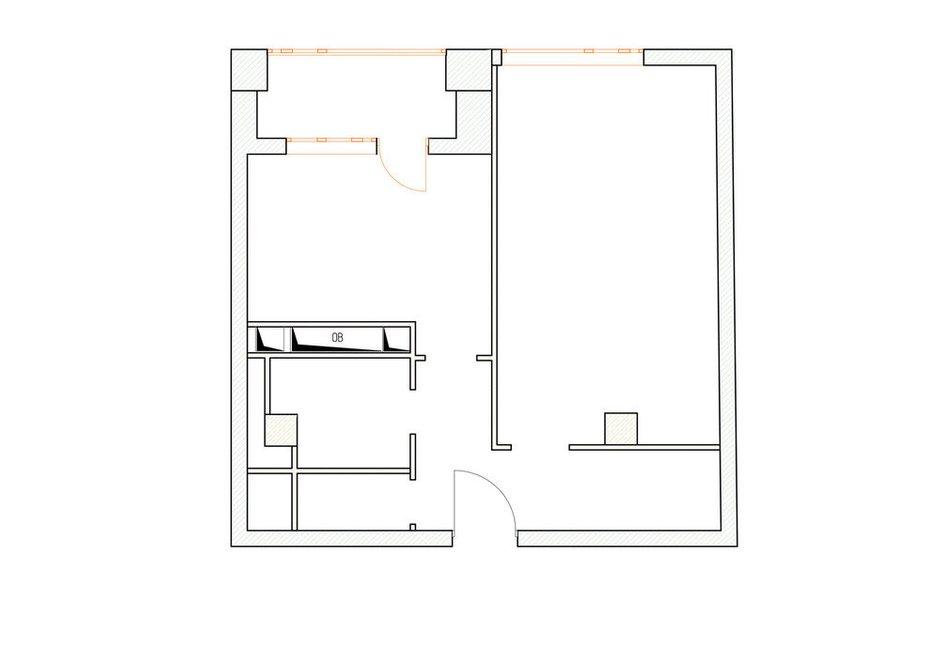 Фотография:  в стиле , Современный, Квартира, Перепланировка, 2 комнаты, 40-60 метров, Олеся Березовская – фото на INMYROOM