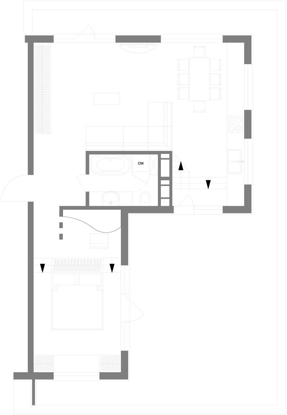 Фотография: Прочее в стиле , Квартира, Дома и квартиры, Проект недели, Мансарда – фото на INMYROOM