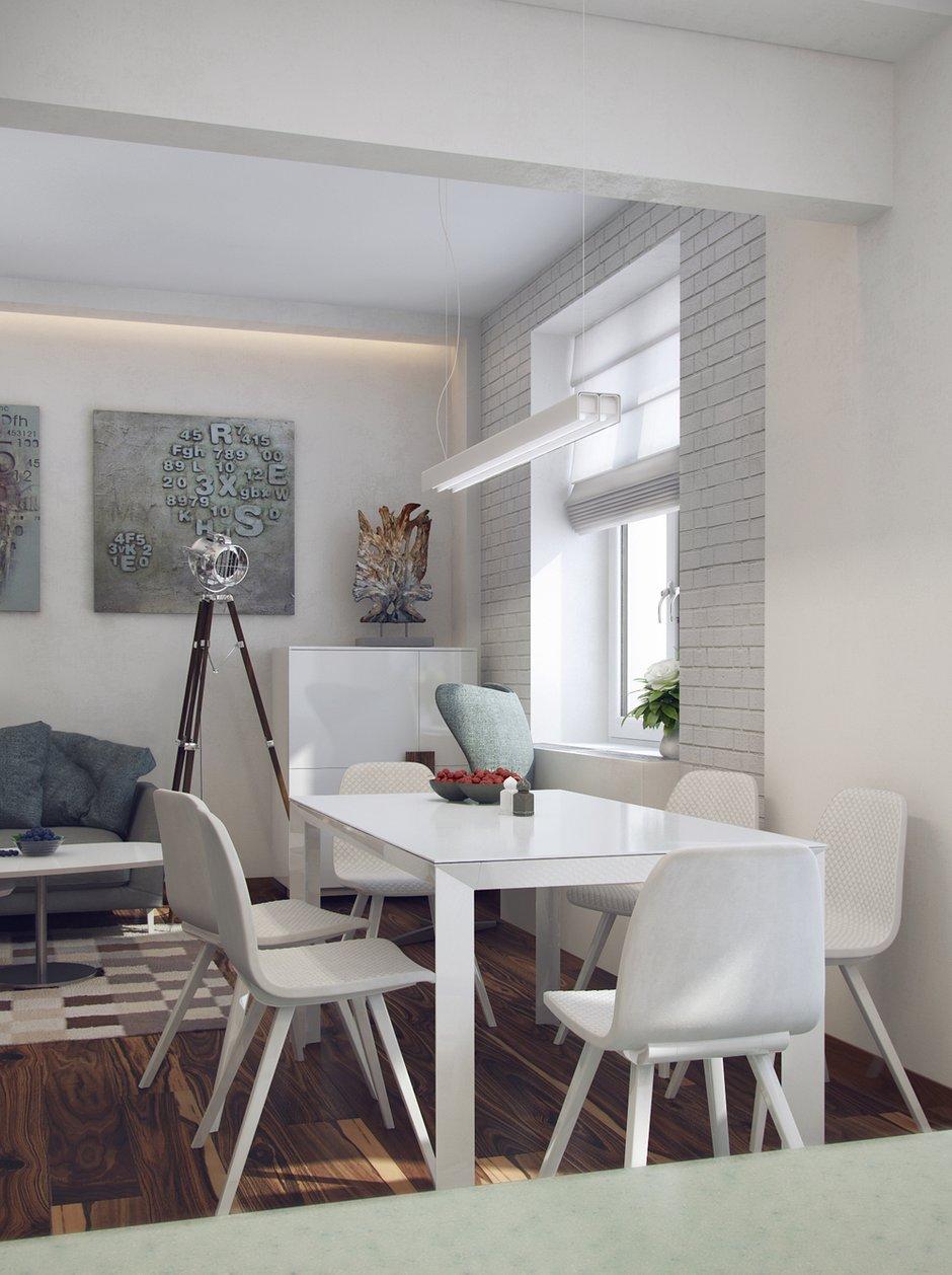 Фотография: Кухня и столовая в стиле Современный, Минимализм, Эклектика, Квартира, Проект недели – фото на INMYROOM