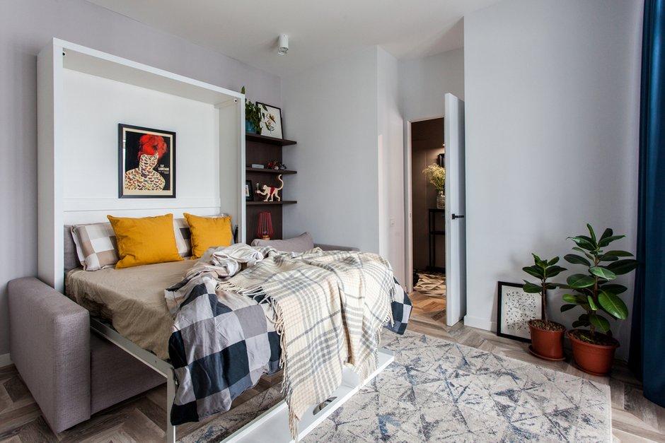 Фотография: Гостиная в стиле Современный, Лофт, Квартира, Проект недели, Москва, 1 комната, до 40 метров, 40-60 метров, MiR Buro – фото на INMYROOM