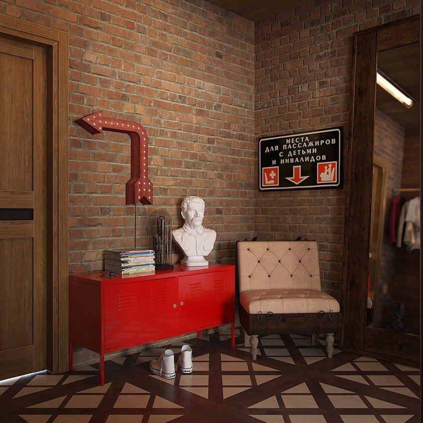 Фотография: Прихожая в стиле Лофт, Декор интерьера, Квартира, Foscarini, Restoration Hardware, Дома и квартиры, IKEA, Проект недели – фото на INMYROOM