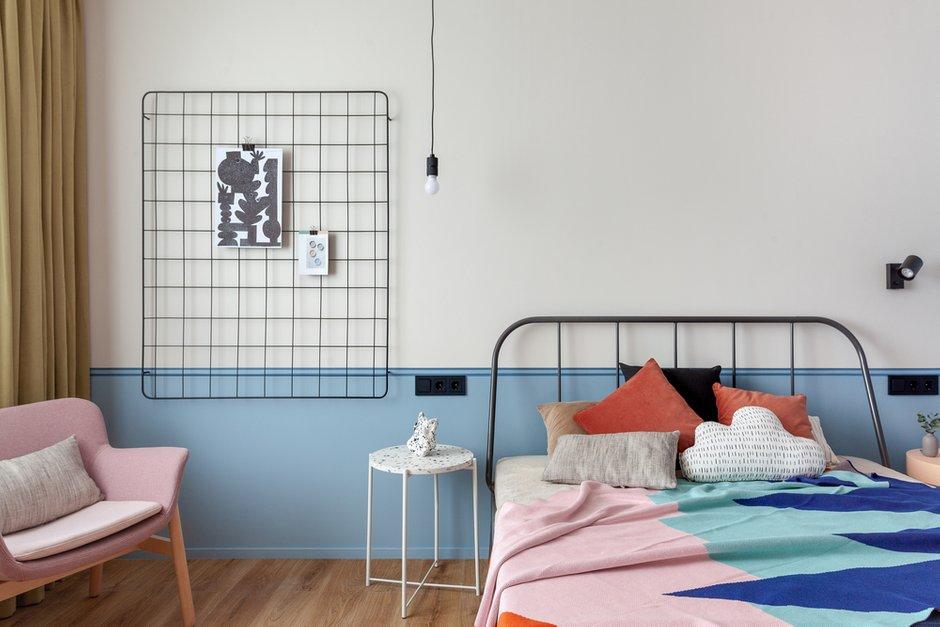 Фотография: Спальня в стиле Современный, Квартира, Проект недели, Москва, 2 комнаты, 40-60 метров, КубКвадрат – фото на INMYROOM