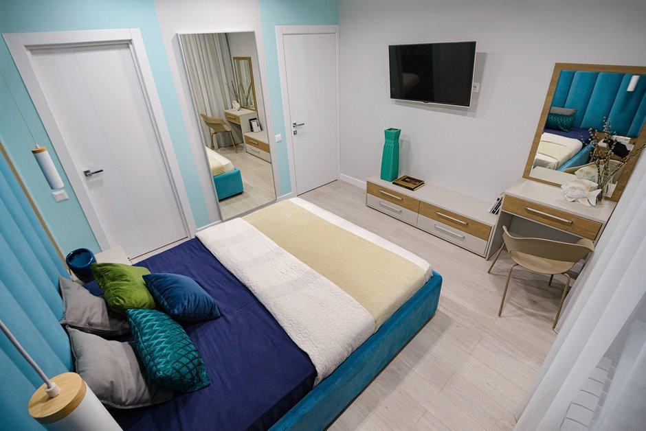 Фотография: Спальня в стиле Современный, Квартира, Проект недели, Новосибирск, 3 комнаты, 60-90 метров, Студия 3D, Полина Марченко – фото на INMYROOM
