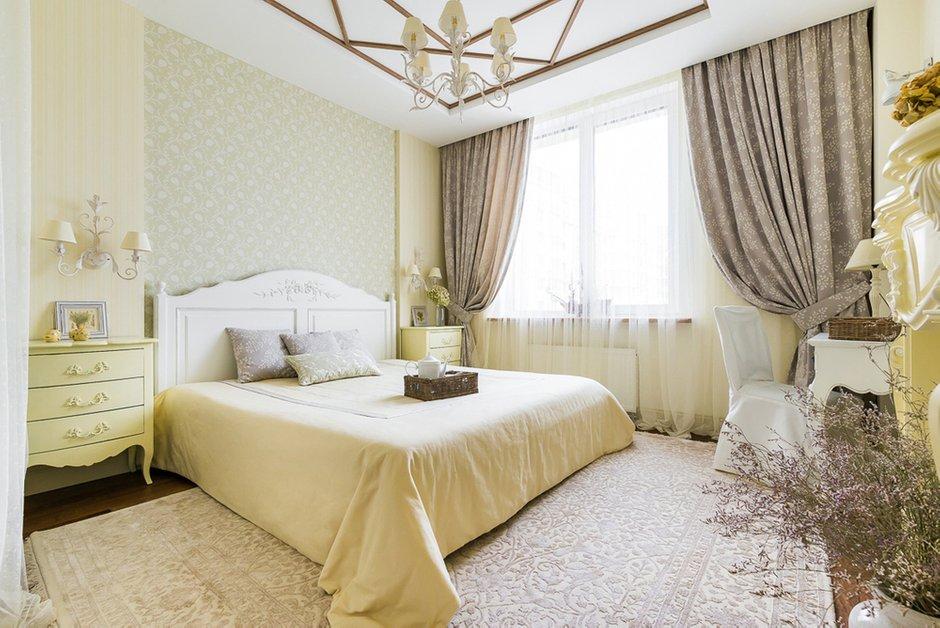 Дизайн: Светлана Юркова. Спальня в стиле шале