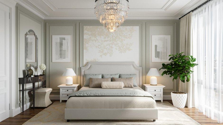 Фотография: Спальня в стиле Классический, Современный, Квартира, Москва, Монолитный дом, 3 комнаты, Более 90 метров, #эксклюзивныепроекты, True interior – фото на INMYROOM