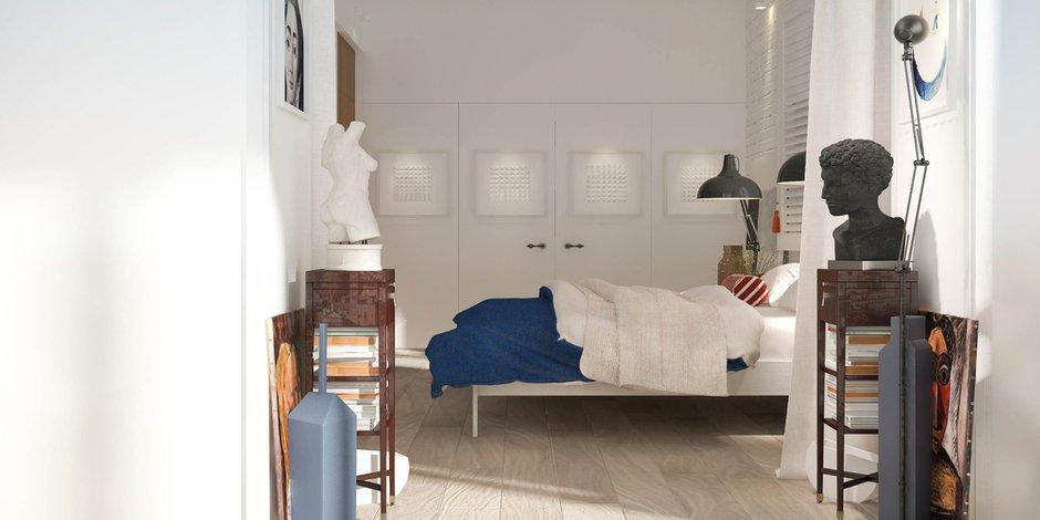 Фотография: Спальня в стиле Лофт, Скандинавский, Современный, Эклектика, Декор интерьера, Квартира, Дома и квартиры, Проект недели – фото на INMYROOM
