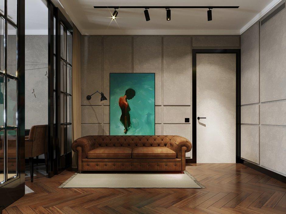 Фотография: Гостиная в стиле Лофт, Современный, Квартира, Проект недели, Монолитный дом, 2 комнаты, 40-60 метров, ЖК «Маяк» – фото на INMYROOM