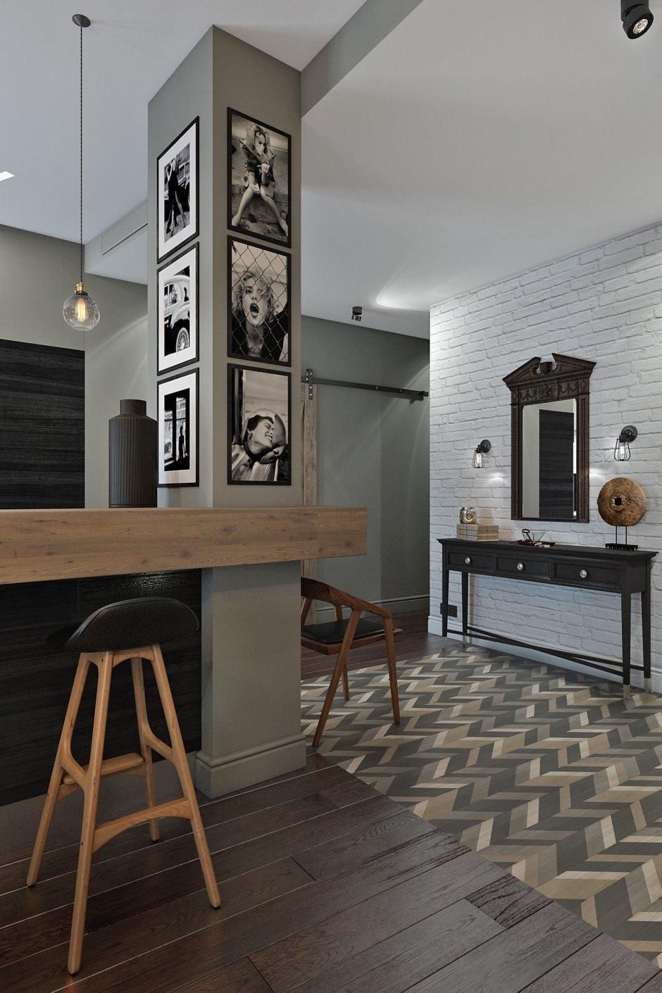 Фотография: Прихожая в стиле Лофт, Квартира, Проект недели, Москва, Диана Мальцева, новостройка, Монолитный дом, 2 комнаты, 60-90 метров – фото на INMYROOM
