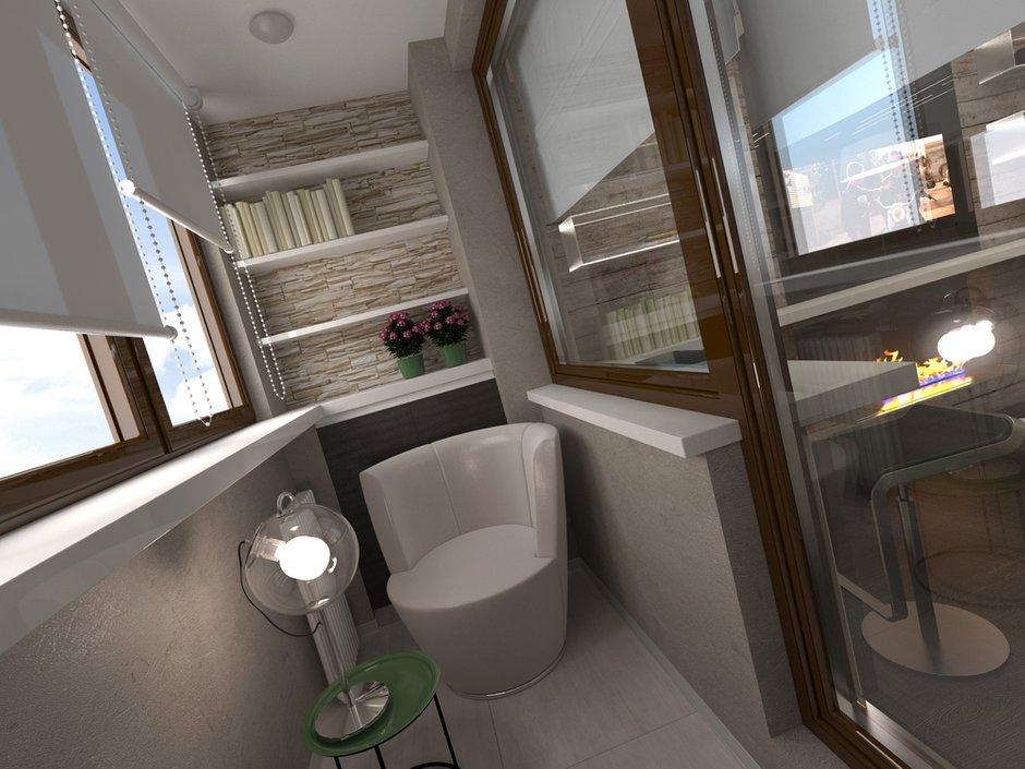 Фотография: Балкон, Терраса в стиле Современный, Малогабаритная квартира, Квартира, Дома и квартиры – фото на INMYROOM
