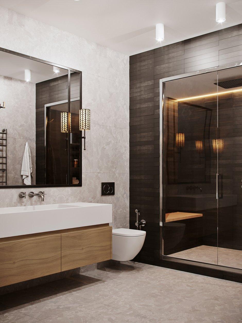 Фотография: Ванная в стиле Современный, Miele, Проект недели, Москва, 4 и больше, Более 90 метров, Aiya Design, ЖК «Red Side» – фото на INMYROOM