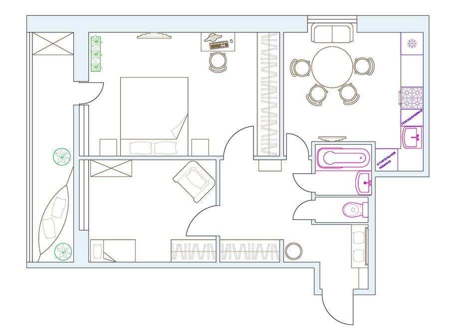 Фотография: Планировки в стиле , Квартира, Проект недели, Москва, Екатерина Чистова – фото на INMYROOM