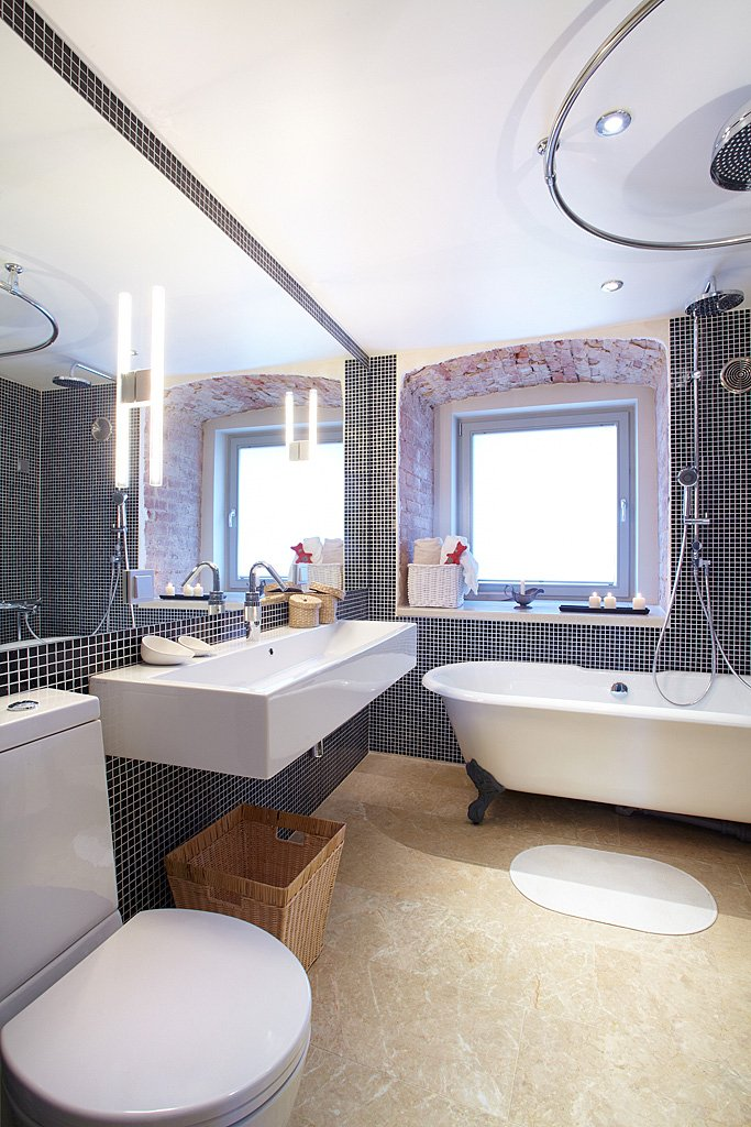 Фотография: Ванная в стиле Лофт, Малогабаритная квартира, Квартира, Дома и квартиры, Проект недели – фото на INMYROOM