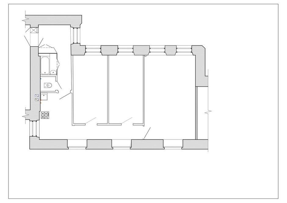 Фотография: Планировки в стиле , Современный, Квартира, Проект недели, Санкт-Петербург, 3 комнаты, 60-90 метров, BAS.architects – фото на INMYROOM