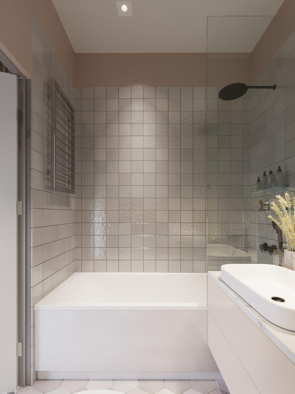 Фотография: Ванная в стиле Современный, Малогабаритная квартира, Квартира, Проект недели, Москва, Монолитный дом, 1 комната, до 40 метров, 40-60 метров, Яна Грошева – фото на INMYROOM