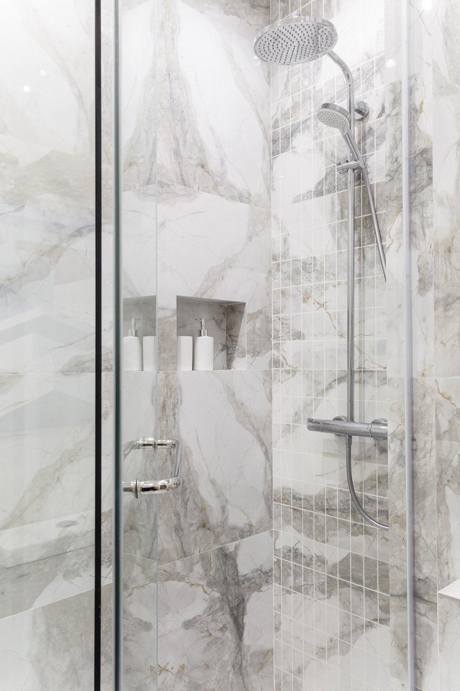 Фотография: Ванная в стиле Классический, Современный, Эклектика, Квартира, Проект недели, Москва, Монолитный дом, 1 комната, до 40 метров, 40-60 метров, Анна Чеснокова – фото на INMYROOM