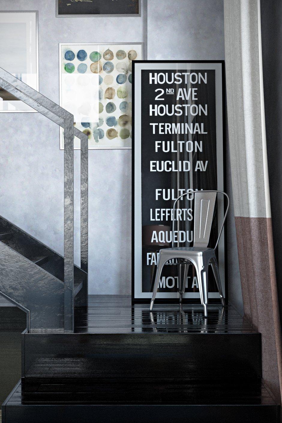 Фотография:  в стиле , Лофт, Квартира, Eichholtz, Flos, Lola Glamour, Restoration Hardware, Белый, Проект недели, Черный, Москва, Бежевый, Синий, Серый, Коричневый, Belvedere, Curations Limited, спальня в стиле лофт, идеи перепланировки, бетонные стены, Tolix, как оубстроить гардеробную, двухэтажная студия, планировка двухэтажной студии, лофт в спальне, планировка гардеробной, Диана Мальцева, спальня с гардеробом, Devon&Devon, лофт в интерьере кухни, гардеробная в квартире, как оформить интерьер в стиле лофт, декор в лофте, отделка в лофте, цветовое оформление в лофте, бетон на кухне, Hatria, Samuel Heath, Equipe Ceramicas, Александра Веселаго, Emerald, Marrakech Design, Naxos Ceramica, Minacciolo, Edfan Classic, Паркет Холл, Carl Hansen & Son, Bleunature, Emmemobili, LeКоvёr, Art-Kamen – фото на INMYROOM