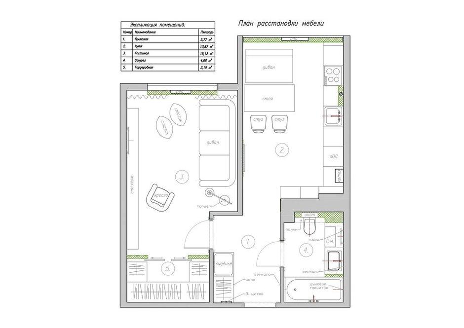 Фотография:  в стиле , Современный, Квартира, Проект недели, Калининград, Guinea Interior Design, новостройка, Панельный дом, 1 комната, 40-60 метров – фото на INMYROOM