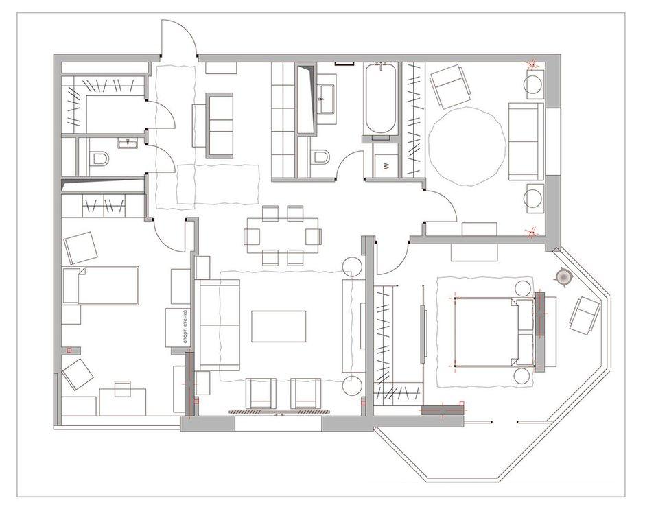 Фотография: Планировки в стиле , Классический, Эклектика, Квартира, Проект недели – фото на INMYROOM