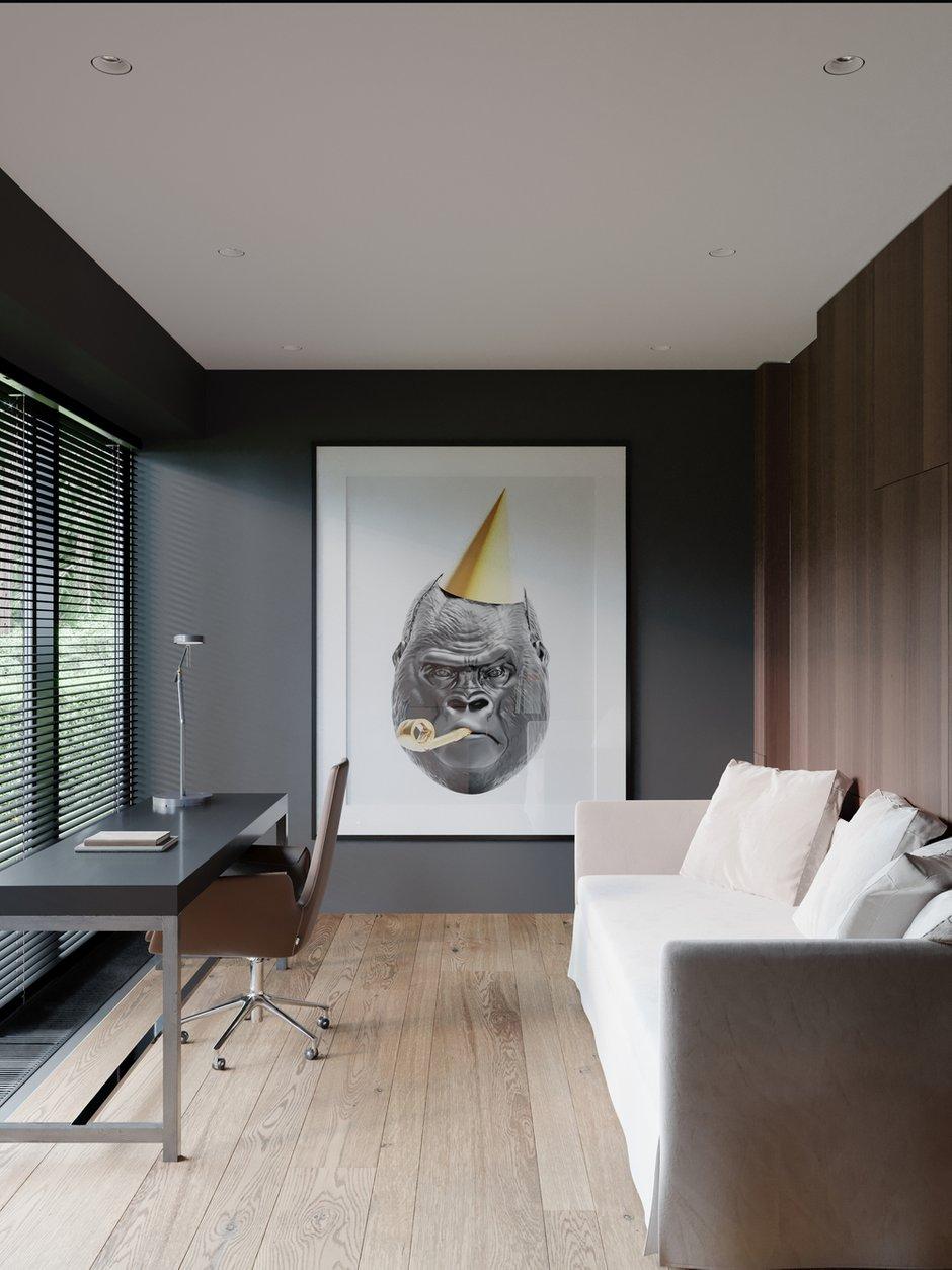 Фотография: Кабинет в стиле Современный, Квартира, Проект недели, 4 и больше, Более 90 метров, Ab-architects, Level Barvikha – фото на INMYROOM