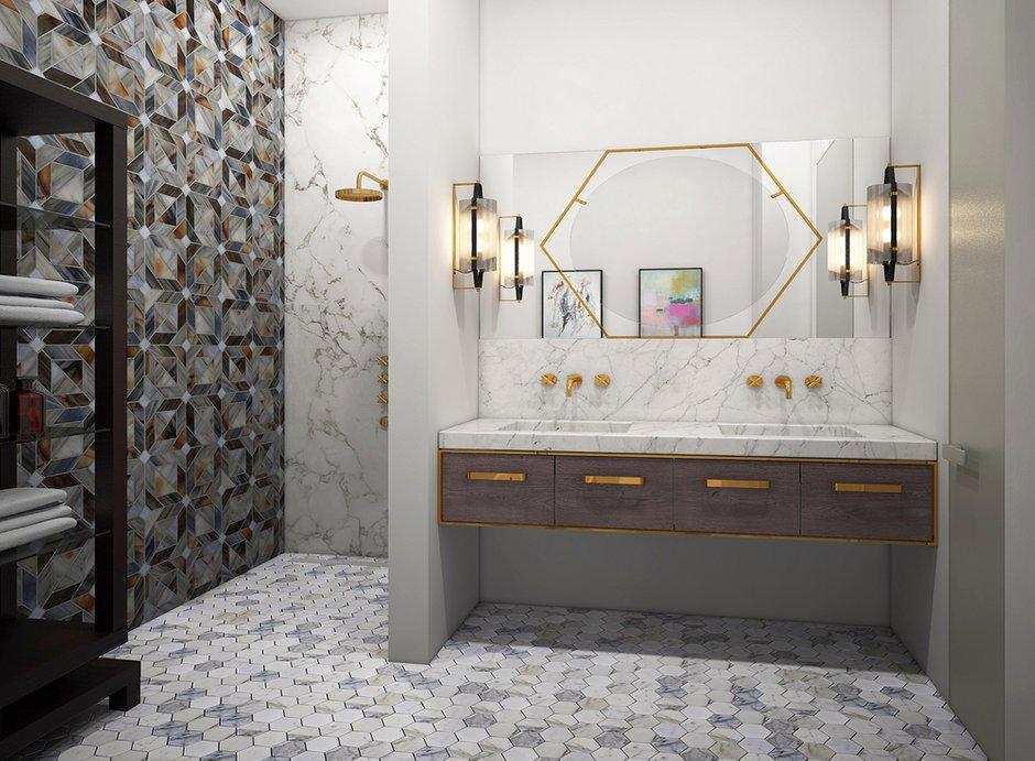 Фотография: Ванная в стиле Эклектика, Дом, Минимализм, Проект недели – фото на INMYROOM