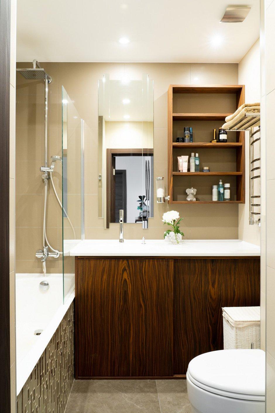 Фотография: Ванная в стиле Современный, Квартира, Проект недели, Санкт-Петербург, Светлана Гаврилова, Монолитный дом, 3 комнаты, 60-90 метров – фото на INMYROOM