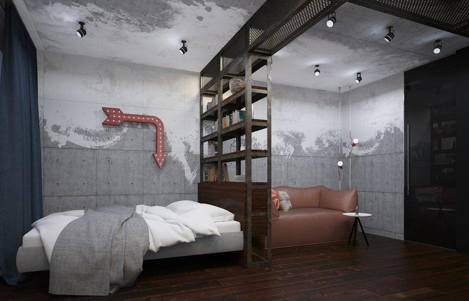 Фотография: Спальня в стиле Лофт, Проект недели, П-3М, GM-Interior – фото на INMYROOM