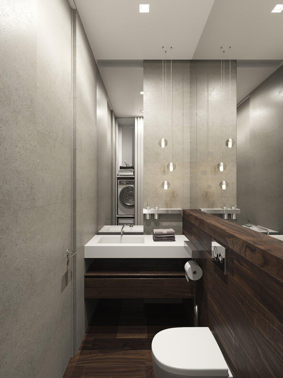 Фотография: Ванная в стиле Современный, Квартира, Проект недели, Москва, Шамсудин Керимов, новостройка, Монолитный дом, 3 комнаты, Более 90 метров – фото на INMYROOM