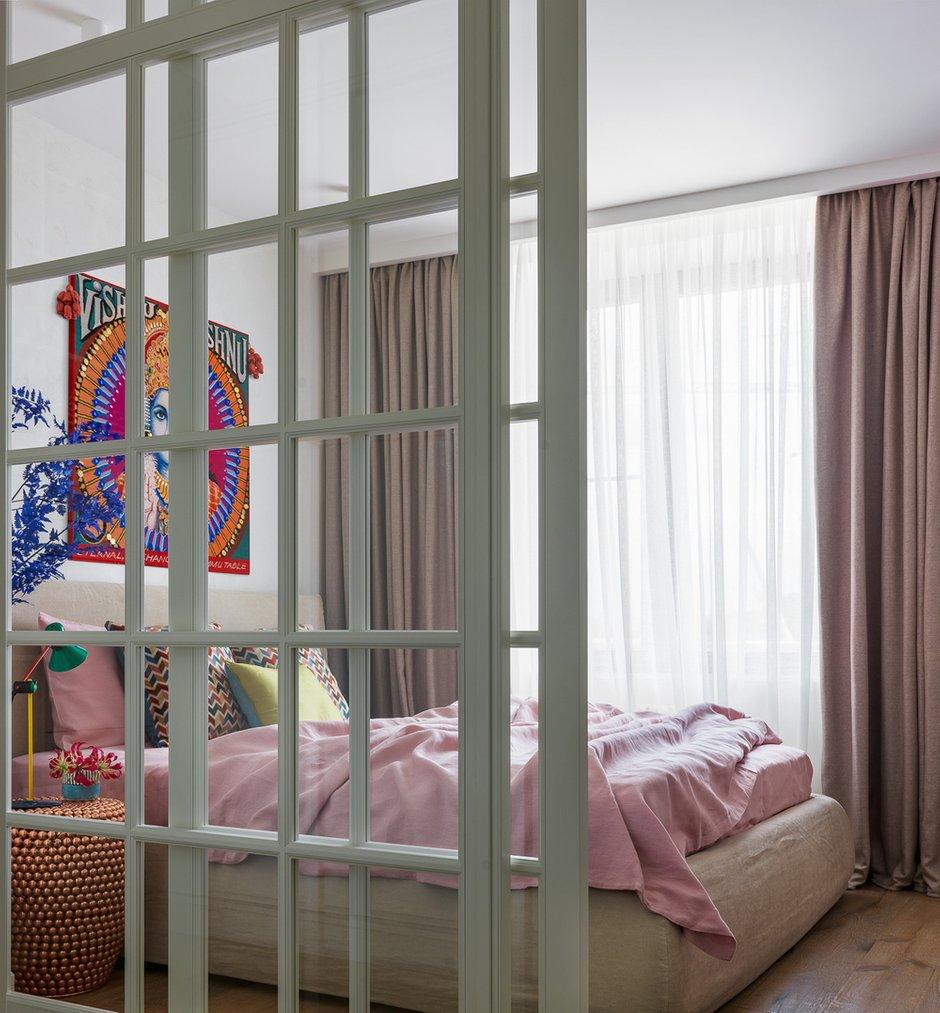 Фотография: Спальня в стиле Восточный, Эклектика, Квартира, Проект недели, Москва, Монолитный дом, Дарья Василькова, 2 комнаты, 60-90 метров, Art Group – фото на INMYROOM