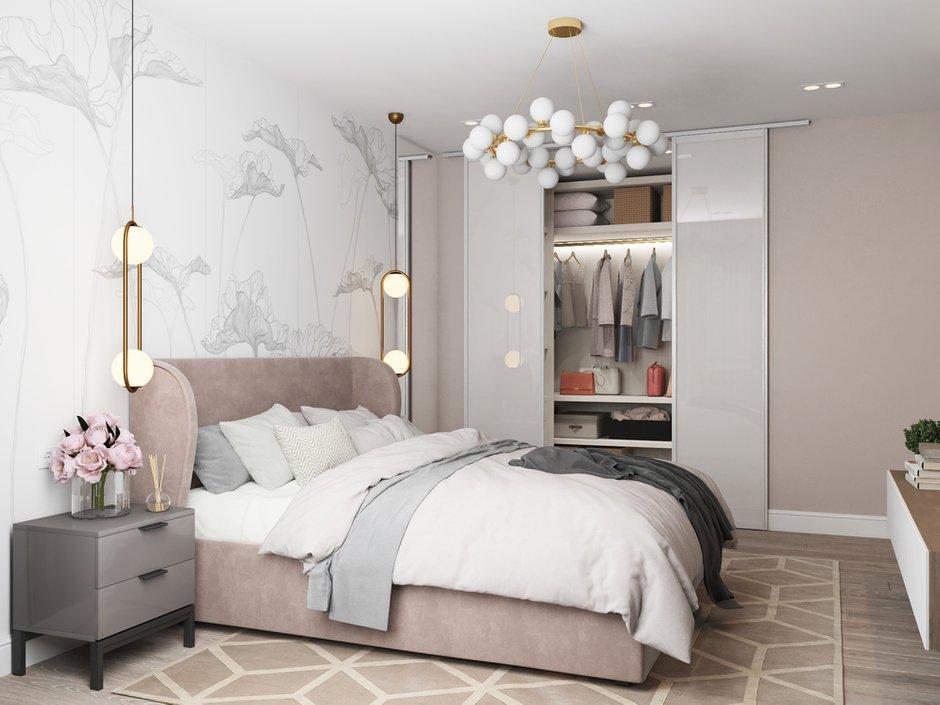Фотография: Спальня в стиле Современный, Квартира, Проект недели, Санкт-Петербург, 2 комнаты, 40-60 метров, Анастасия Шумова – фото на INMYROOM