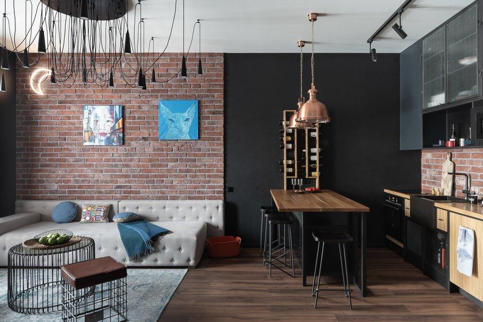 Фотография: Кухня и столовая в стиле Лофт, Квартира, Студия, Проект недели, Санкт-Петербург, 40-60 метров, VizDiz – фото на INMYROOM