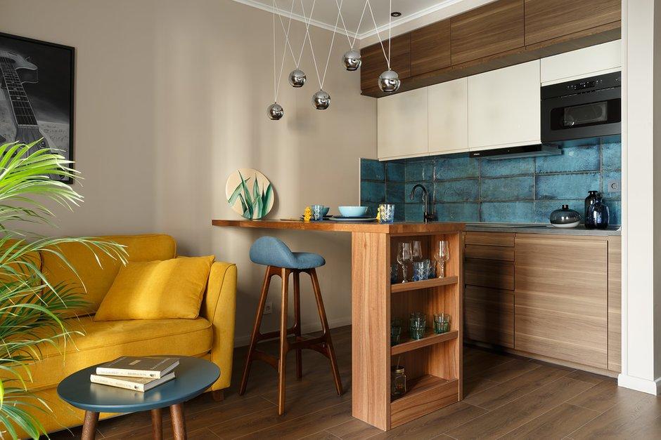 Фотография: Кухня и столовая в стиле Современный, Квартира, Проект недели, 1 комната, 40-60 метров – фото на INMYROOM