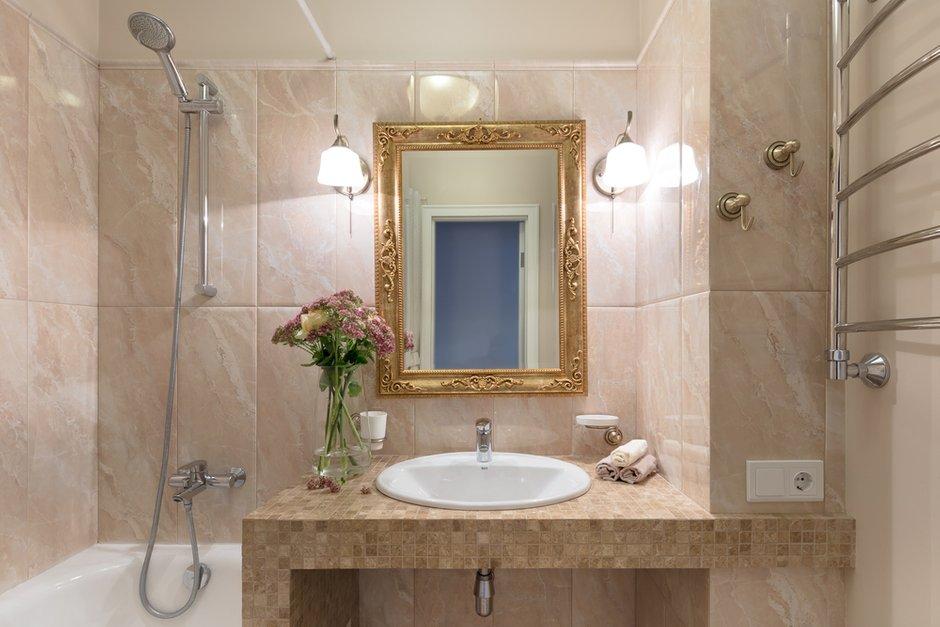 Фотография: Ванная в стиле Современный, Прованс и Кантри, Квартира, Проект недели, Балашиха, Монолитный дом, 2 комнаты, 60-90 метров, Анна Елина – фото на INMYROOM