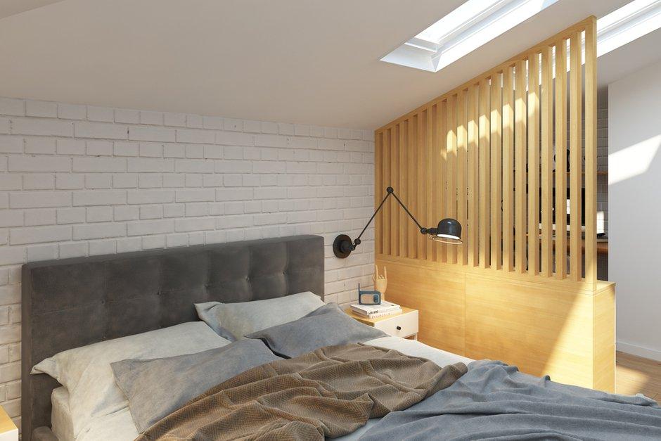 Фотография: Спальня в стиле Скандинавский, Квартира, Проект недели, Химки, Geometrium, ЖК «Город Набережных» – фото на INMYROOM