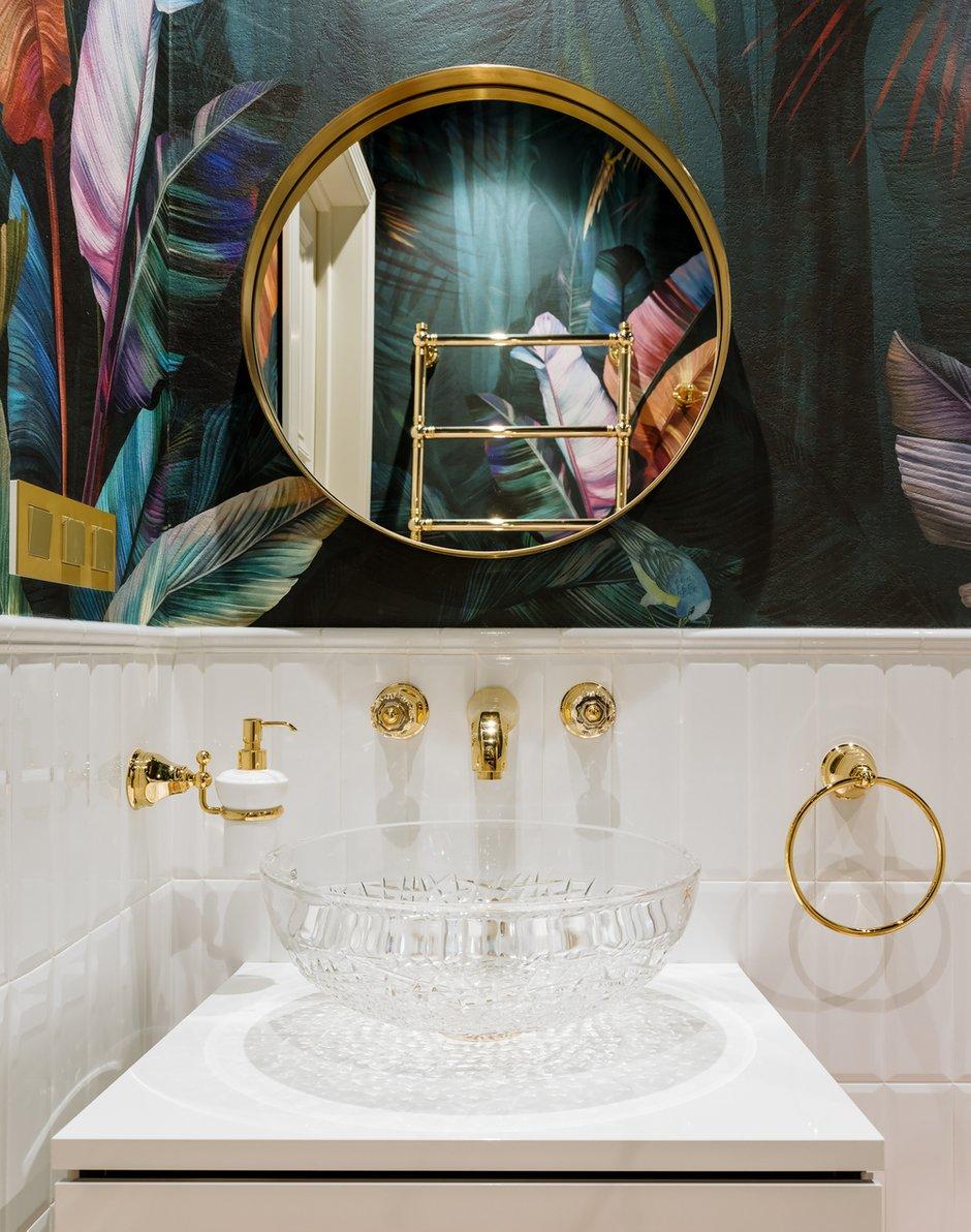 Фотография: Ванная в стиле Классический, Эклектика, Квартира, Проект недели, Москва, Монолитный дом, 4 и больше, Более 90 метров, #эксклюзивныепроекты, Инна Арбуа, ПРЕМИЯ INMYROOM – фото на INMYROOM