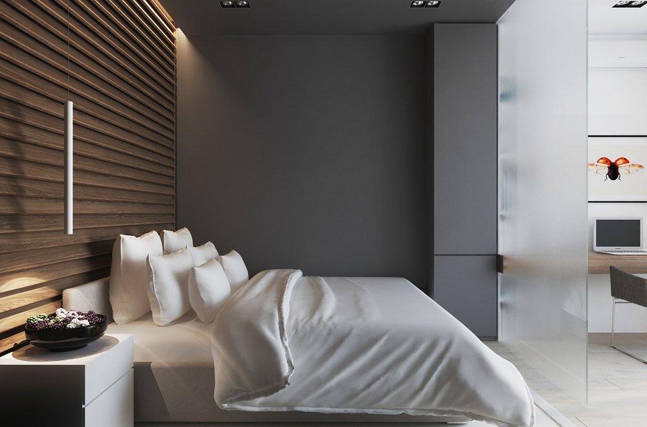 Фотография: Спальня в стиле Лофт, Современный, Квартира, Минимализм, Проект недели – фото на INMYROOM
