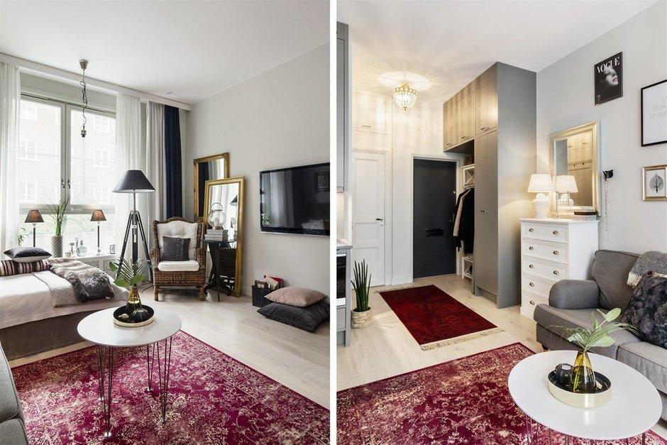 Фотография:  в стиле , Скандинавский, Малогабаритная квартира, Квартира, Швеция, Гид, дизайн-гид, малогабаритка, до 40 метров – фото на INMYROOM