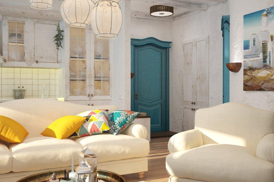 Фотография: Гостиная в стиле Прованс и Кантри, Восточный, Квартира, Дома и квартиры, Проект недели, Средиземноморский – фото на INMYROOM
